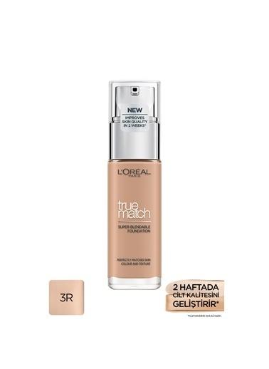 L'Oréal Paris L'Oréal Paris True Match Bakım Yapan Fondöten 3R ROSE BEIGE Renkli